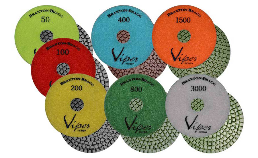 Viper 7-Step Wet Diamond Polishing Pads