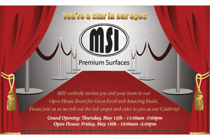 MS INTERNATIONAL, INC GRAND OPENING