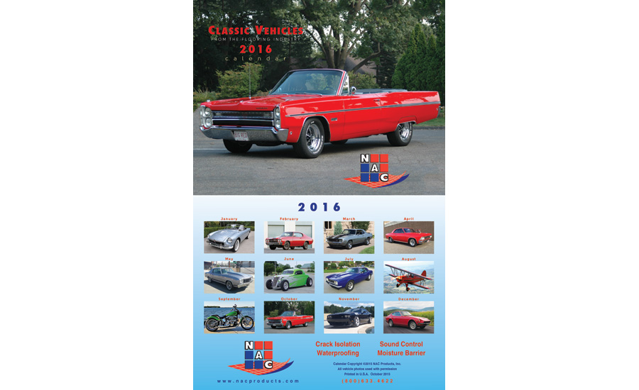 NAC Products releases 2016 calendar